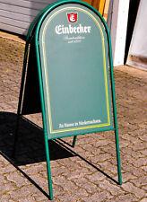 Einbecker Bier, Kundenstopper, Werbeaufsteller Vollmetall, grün