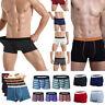 4-6 Pack Mens Soft Boxer Briefs Underwear Bulge Pouch Shorts Soft Trunks Lot