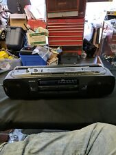Sony Cfs-W303 Radio Cassette Boombox Dubbing Recorder Tape Player Vintage