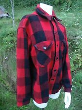 True Vintage '60's/'70& #039;s L.L Bean wool buffalo plaid lumber jacket coat shirt M