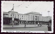 Genève ( Suisse ) Gare Cornavin . photo ancienne . 1937