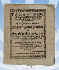 Preis- & Bestandsliste zweier Apotheken von 1667, Thüringen