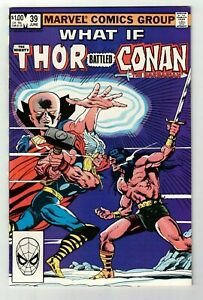 WHAT IF #39 NM THOR BATTLED CONAN THE BARBARIAN? 1983 Marvel By Crom! High Grade