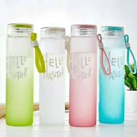 Portable Cute Water Cup Glass Water Bottle Cup Travel Mug Outdoor Drinking Cup U