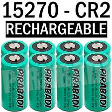 8 PILE ACCU BATTERIE 15270 CR2 CR-2 Li-ion 3V 800Mah RECHARGEABLE