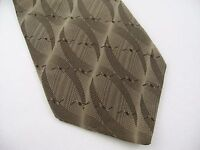 Vintage Men's Tie: Fancy Brown Textured Bill Blass Black Label 100% Silk