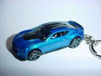 3D BLUE CHEVROLET CAMARO ZL1 CUSTOM KEYCHAIN KEY keyring race ready BLING!!! 17