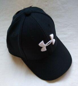 UNDER ARMOUR BLACK CAP, SIZE CHILD MEDIUM 4-6 YEARS OLD