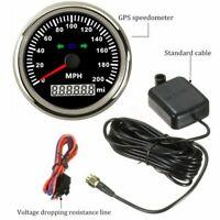 Waterproof 200MPH GPS Speedometer Gauge Indicator Light for Car Truck Motorcycle