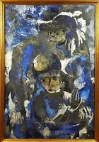 ABSTRACT. OIL ON CANVAS. FOLLOWER OF ANTONI CLAVE. CIRCA 1970.