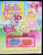 Barbie A Fabulous Day 3-D Glasses Sticker Fun >30 Stickers 14 Scenes Parragon