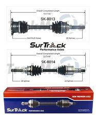 For Pontiac Sunrunner Suzuki Sidekick Pair of Front CV Axle Shafts SurTrack Set