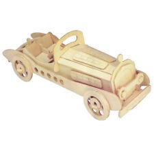 Oldtimer SSKL 3D Holzbausatz Wagen Auto Fahrzeug Holz Steck Puzzle Kinder Bauen
