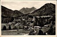 JACHENAU Bayern alte Fernansicht um 1940/50 Heimgarten mit Berg Panorama
