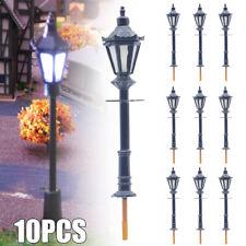 10 Laternen M 1:100 warm weiß 70mm LED Lampen Leuchten Straßenlaternen Modellbau