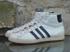 Vintage 1960s Adidas Allround UK 8.5 Made In West Germany White / Black hi 60s