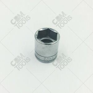 "SK Hand Tools 320 3/8"" Dr. 20mm 6pt Standard Metric Chrome Socket"