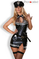 Déguisement police, robe moulante sexy costume femme stretch policière
