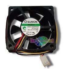 New Sunon MagLev 60mm x 20mm 12 Volt 3 pin Case/CPU Fan KDE1206PKV2 MS.AF.GN