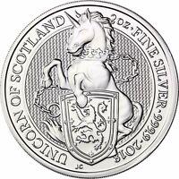 Queen's Beasts Einhorn von Schottland Silbermünze Großbritannien 5 Pfund 2018