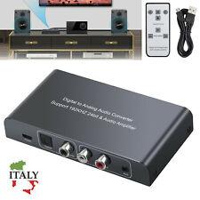 DAC Convertitore Audio da Digitale ad Analogico Controllo Volume telecomando IR