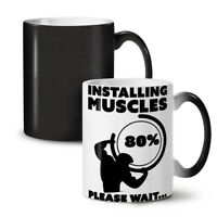 Muscle Gym Fitness Sport NEW Colour Changing Tea Coffee Mug 11 oz | Wellcoda
