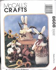 "8608 UNCUT Vintage McCalls Sewing Pattern Craft Bunnies 8"" 9"" 12"" Anne McKinney"