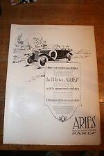 PUB AUTOMOBILE ARIES 8-10 CV GRAND PRIX COURSE DU PIC MONTAIGU 1925