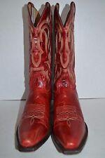 Shyanne Western Cowgirl WESTERN Boots Women SNIP Toe Red Leather BBW63 SZ 9 B