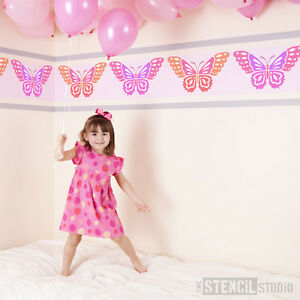 Beautiful Butterfly STENCIL Ideal for Decorating Little Girls Room DIY 10018