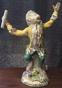 Monkey Orchestra Conductor Band Figurine Meissen Dresden Sitzendorf Repro