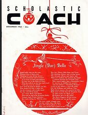 1961 DECEMBER  SCHOLASTIC COACH  MAGAZINE ANNUAL  Jingle ( Bar ) Bells  EX