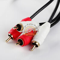 1.5ft RCA56 Noise Cancellation 2Male to Male Audio Coax Video Cable Gold-Plated