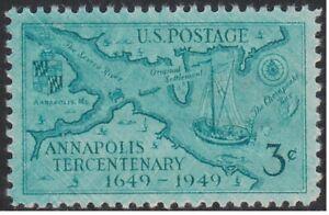 #984 Annapolis Tercentenary 3c Heavily Over-Inked, Mint Never Hinged Jumbo