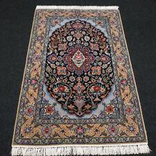 Orient Teppich Seide 167 x 110 cm Perserteppich Blau Handgeknüpft Carpet Rug