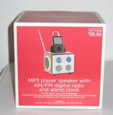 """MP3 Player Speaker with AM/FM Digital Radio and Alarm Clock by """"HIA"""" BRAND NEW"""