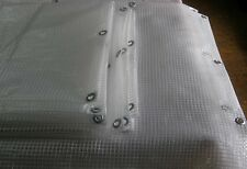 CLEAR TARPAULIN TARP, FILM, FOIL,LIGHTWEIGHT WATERPROOF ANY SIZE, 4 SQUARE FT
