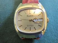 BULOVA  mans day/ date 17 jewel automatic watch    364