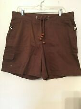 Jones New York Signature Cargo Shorts Cotton Brown 14