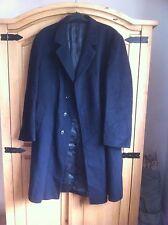 Di Caprio Gentleman's Black Crombie Over Coat R46 Smart Overcoat Wool