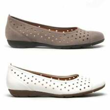 Gabor RUFFLE Ladies Womens Casual Smooth Leather Lightweight Ballerina Shoes