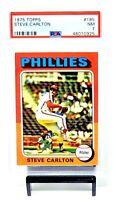 1975 Topps HOF Phillies STEVE CARLTON Vintage Baseball Card PSA 7 NEAR MINT