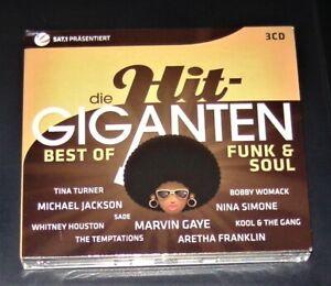 DIE HIT GIGANTEN BEST OF FUNK & SOUL 3 CD BOX IM DIGIPAK MIT 60 TITEL NEU & OVP