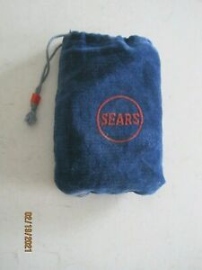 VINTAGE SEARS POCKET HAND WARMER WITH ORIGINAL BAG