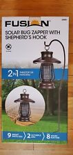 Fusion Solar Bug Zapper w/Shepherds Hook Tabletop or Hanging Bronze Up to 8 Hr