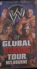 WWE Global Warning Tour 2002 VHS WWF Wrestling orig neu Triple-H vs Kane vs Rock