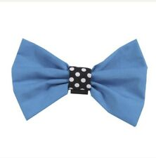 BRAND NEW WITHOUT TAGS Aqua Blue Designer Dog Bow Tie