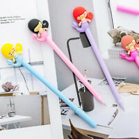 6pcs Cute Cartoon Kawaii Mermaid Gel Ink Roller Ball Point Pen School Kids