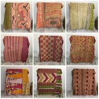 Vintage Kantha Quilt Coverlet Indian Bedding Bedspread Blanket Decor lot Throw
