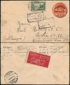 TURKEY - ANDRINOPLE 1915, RARE OTTOMAN CENSORED COVER TO BERLIN.    #M57